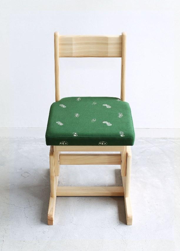 2本脚チェアfabric(グリーン) メイン角版 - コピー